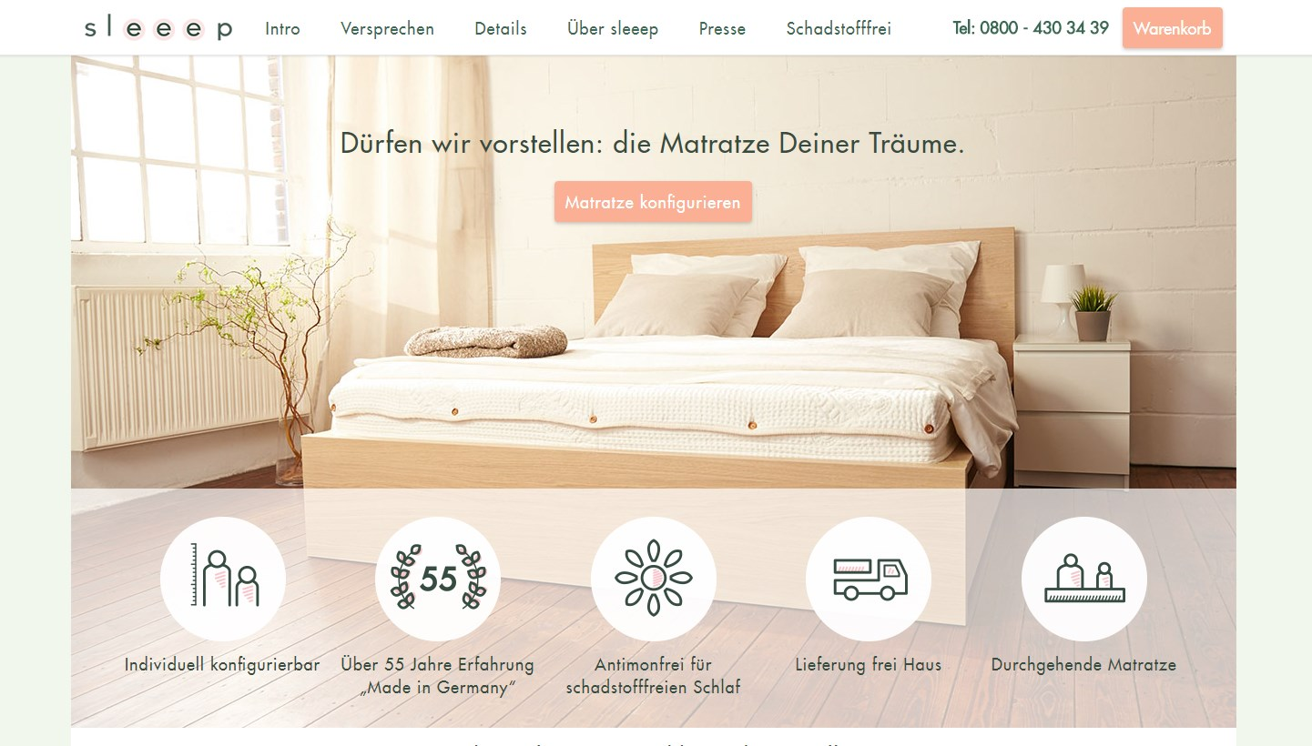 Gaetano Di Napoli - Matratzen | Schaumstoffe | Akustik - Screenshot vom Online-Shop sleeep Matratze