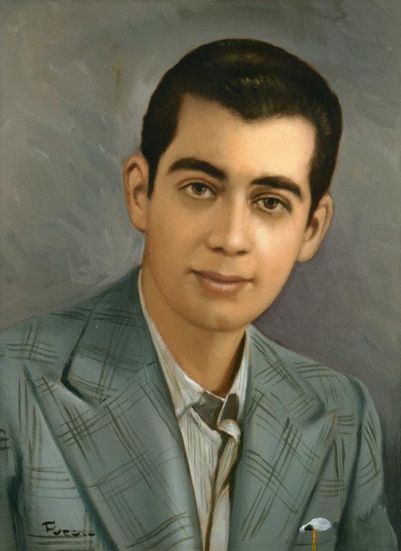 Gaetano Di Napoli - Matratzen | Schaumstoffe | Akustik - Porträt Gemälde von Firmengründer Gaetano Di Napoli